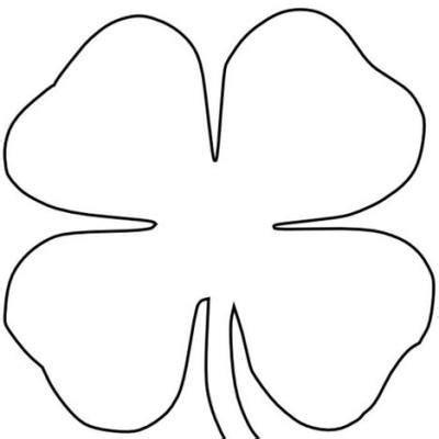leaf clover coloring page tip junkie