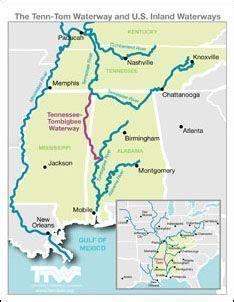 tennessee tombigbee waterway   inland waterways map