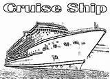Coloring Cruise Ship Luxurious Sketch Template Netart sketch template