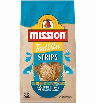 Chips Tortilla Mission Strips Nutrition Foods Rounds