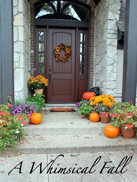 pumpkin walkway fall home style pinterest walkways and gardens