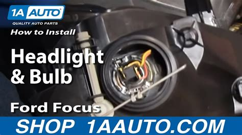 install replace headlights  bulbs ford focus