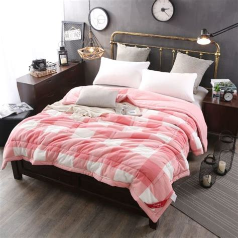 pink bedding light pink striped washed cotton comforter ebeddingsets Light