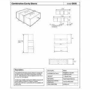 2 X Cavity Wall Combination Extension Sleeves G935 Homesmart