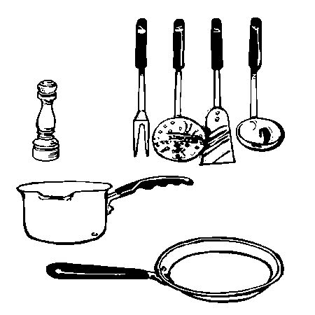 dessin d 39 ustensiles de cuisine 2
