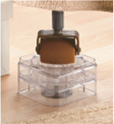 sturdy bed risers bed risers clear set of 8 in bed storage