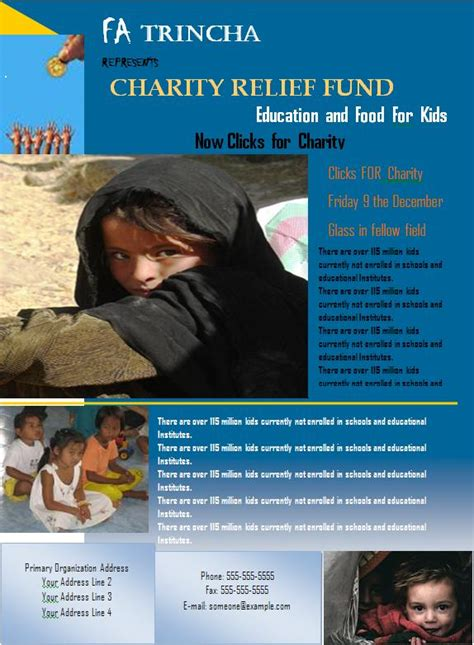 charity flyer graphics  templates