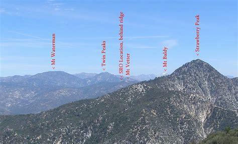 view  san gabriel mountains  josephine peak lo