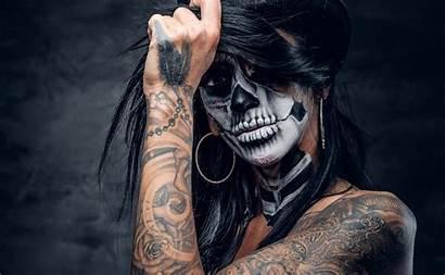 Tattoo Skull Sugar Woman 4k Wallpapers Background