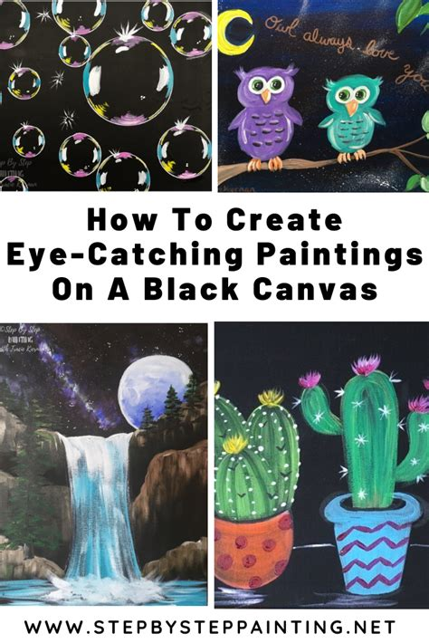 It's ready and easy to be hung on your wall. Black Canvas Painting Tutorials For Beginners - Step By Step Painting