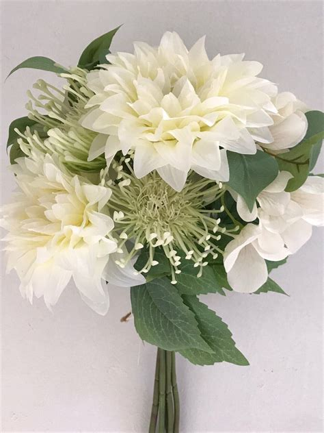 Купить Искусственные цветы оптом. Хризантема с гортензией ...
