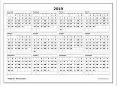 Calendario 2019 34DS