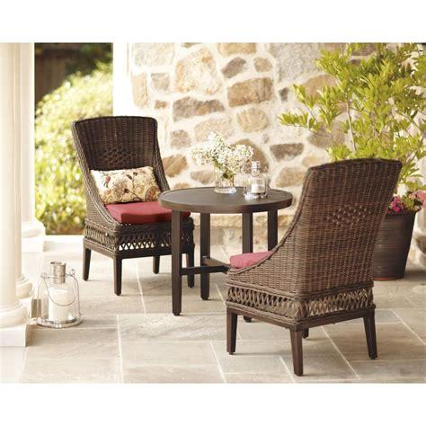hton bay woodbury 3 patio bistro set with