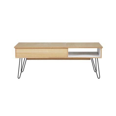 table d appoint maison du monde couchtisch im vintage stil aus holz und metall b 115 cm twist maisons du monde
