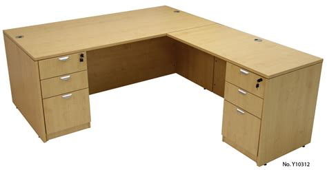 l desk with drawers maple conference u shaped workstation with hutch