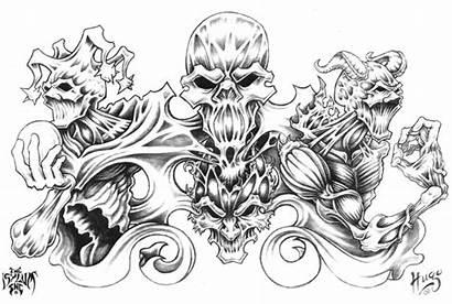 Skull Tattoo Demon Deviantart