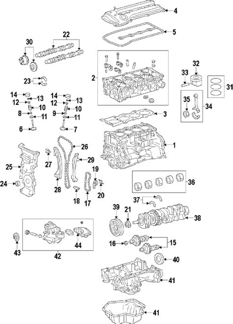 2009 Toyotum Matrix Fuse Diagram by Parts 174 Toyota Gear Assy Camshaft Partnumber 1305028021