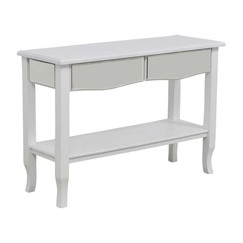 off white console table 85 off white mirrored console table with two drawers