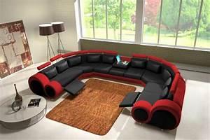 Sofa Schwarz Rot : jvmoebel ledersofa couch sofa ecksofa modell berlin iv u form ~ Markanthonyermac.com Haus und Dekorationen