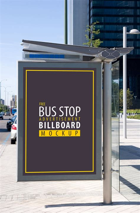 bus stop poster psd template 30 outdoor advertising bus stop psd mockup templates