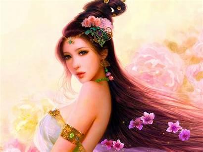 Asian Cg Woman Beauty Pastel Ultra 2160