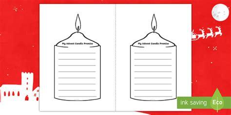 advent candle promise worksheet worksheet teacher