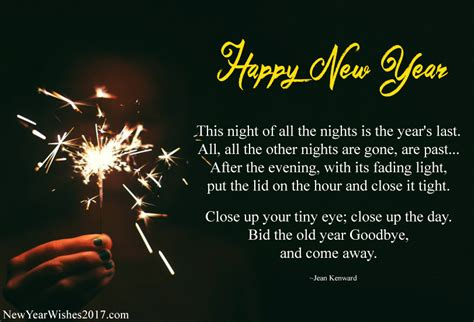 best prayers for welcoming a new year beautiful happy new year poems in for family and friends