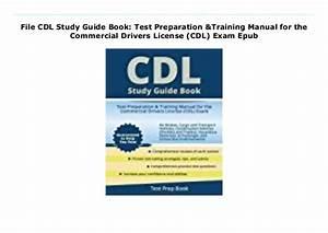 File Cdl Study Guide Book  Test Preparation  U0026 Training