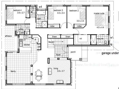 simple slope house plans ideas photo 4 bedroom 2 living hillside house kit home design