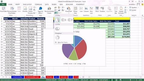 Office Basics by Highline Excel 2013 Class 41 Review Of Chart Basics