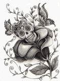 Skull Heart Royalty Free Stock Image
