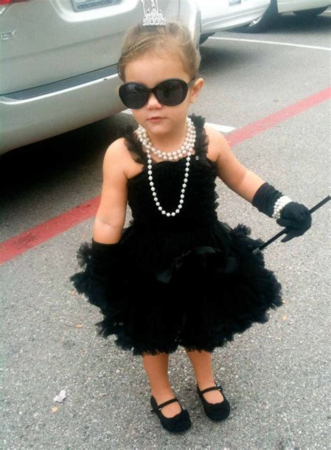 audrey hepburn themed kids costume  mini icons