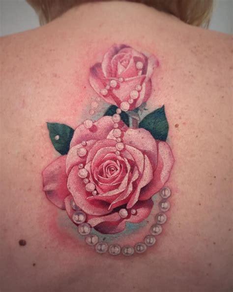 rose  pearl tattoo  atsosoink tattoo ideas pearl
