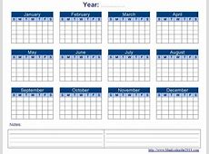 yearly calendar on one page 2015 yearly printable calendar