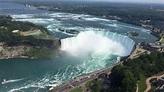 View of the horseshoe falls from The Skylon Tower, Niagara ...
