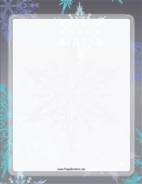 gray  blue snowflake border