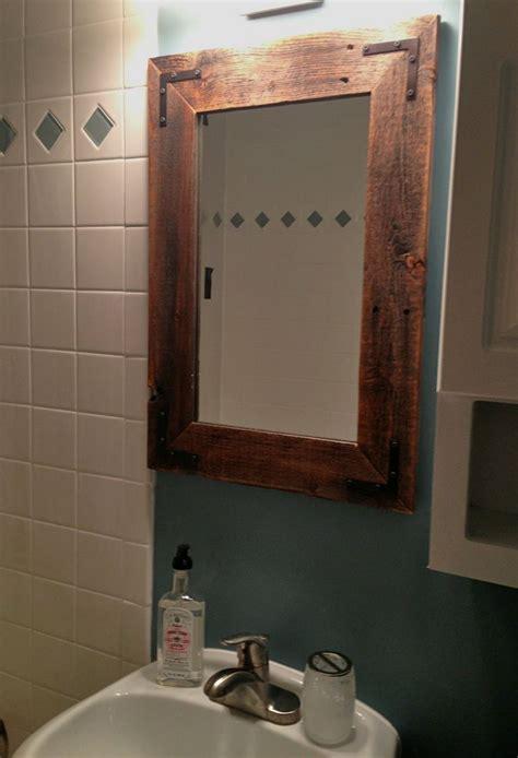 mirror reclaimed wood farmhouse mirror
