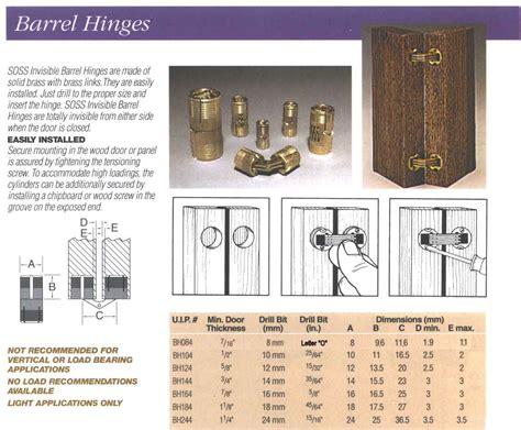 soss bh mm barrel hinge solid brassmin door