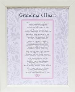 Grandma's Heart Poem Frame 11x14 White