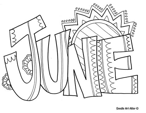 months   year coloring pages classroom doodles