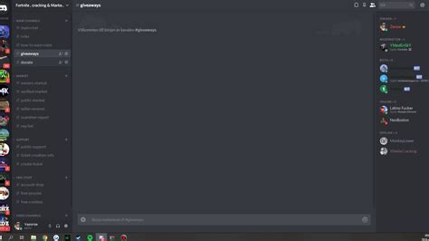 fortnite cracking discord server marketplace link