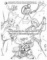 Coloring Shimmy Ellen sketch template