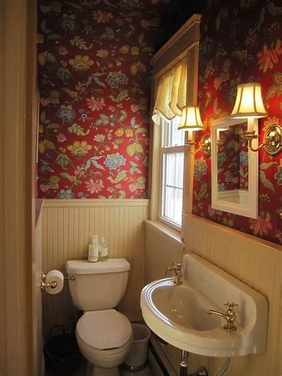 Bathroom Toilet Floral Wall Barn Space Sink
