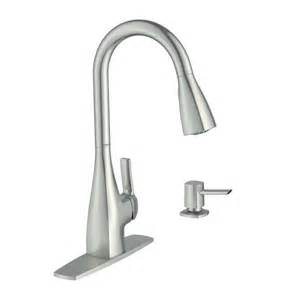 moen 87599srs kiran spot resist stainless 1 handle pull kitchen faucet lowe s canada