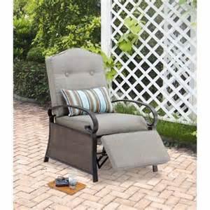 mainstays outdoor recliner ashwood