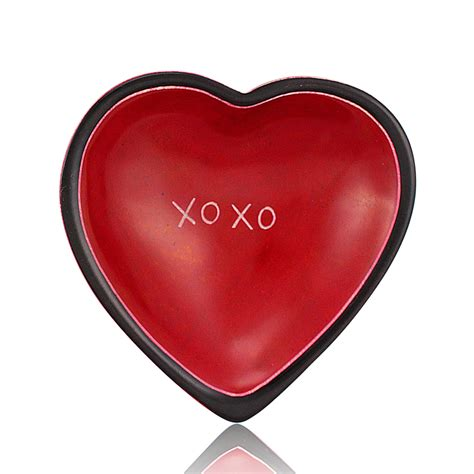 XOXO Kenyan Soapstone Heart Shaped Dish by Venture Imports ...