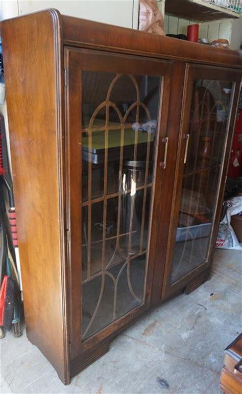 art deco waterfall china cabinet 4u2c art deco waterfall style china cabinet or bookcase