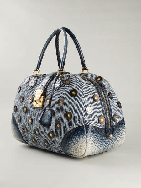 louis vuitton monogrammed bowling bag  blue lyst