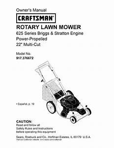 Craftsman Lawn Mower 917 376672 User Guide