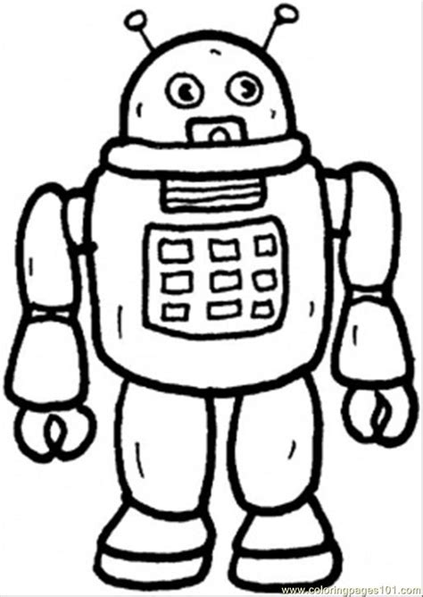 From Future: Robots coloring pages and Robot craft ideas